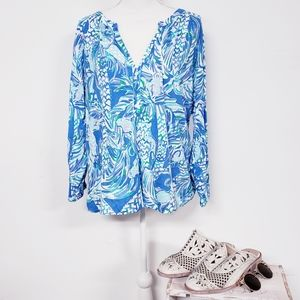 Lilly Pulitzer Canopy Chaos Blouse